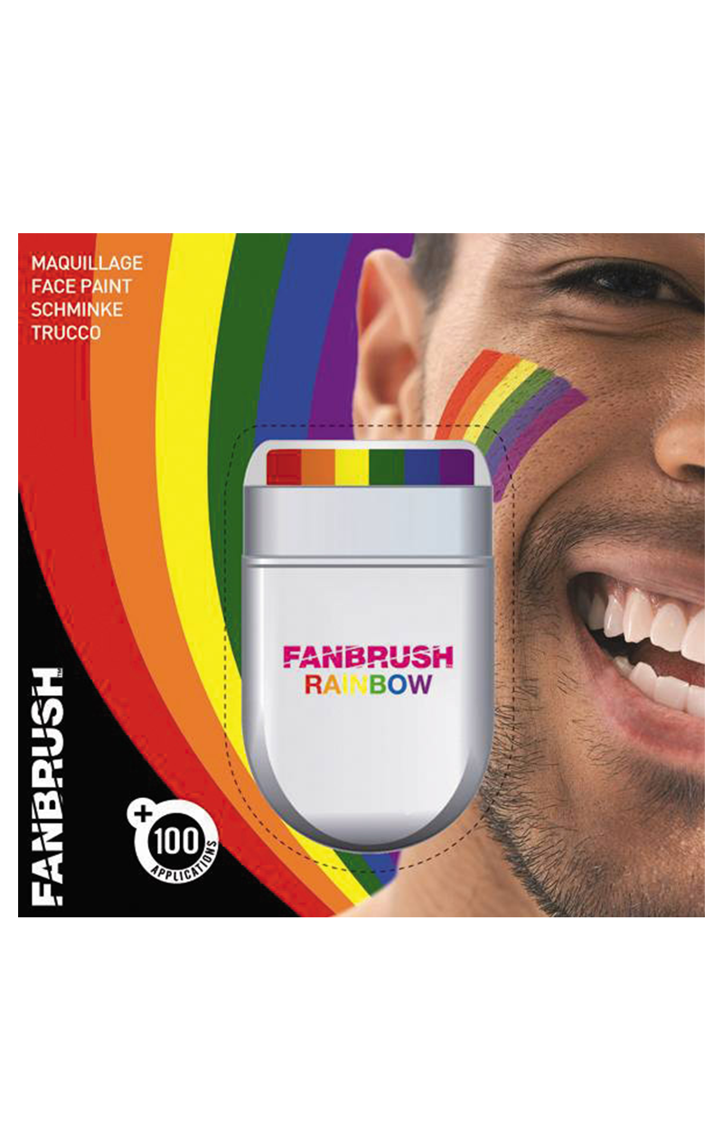 Rainbow Fan Brush Makeup