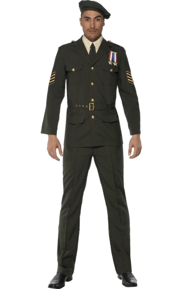 Adult Mens Wartime Officer Costume