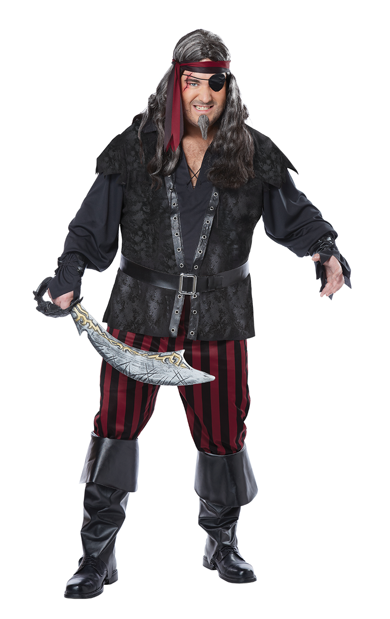 Ruthless Pirate (Plus Size) Costume