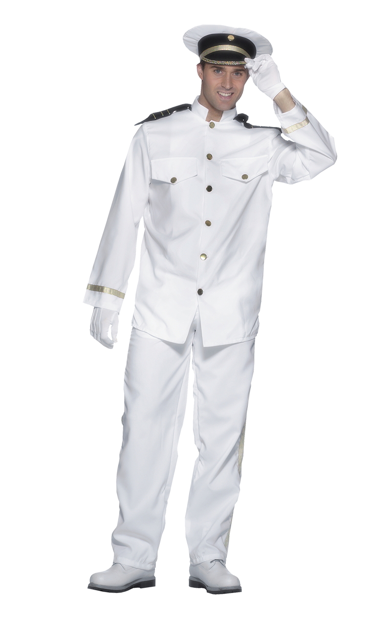 Adult Navy Whites Costume