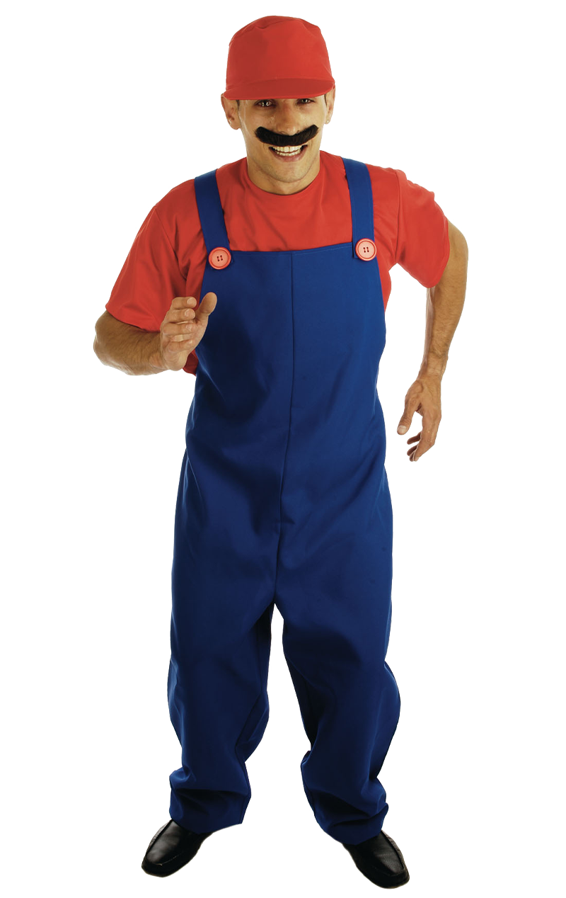 Men Red Plumbers Mate Costume