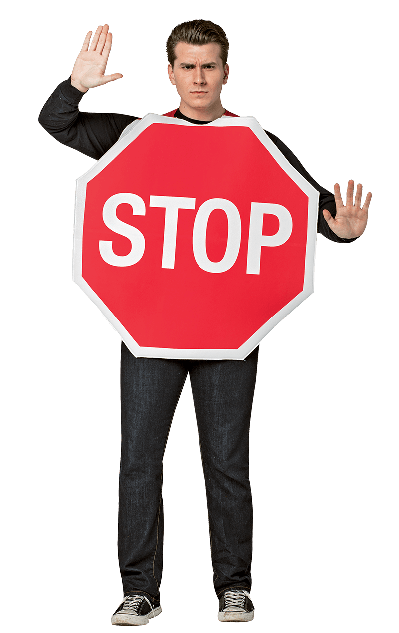 Adult Stop Sign Costume