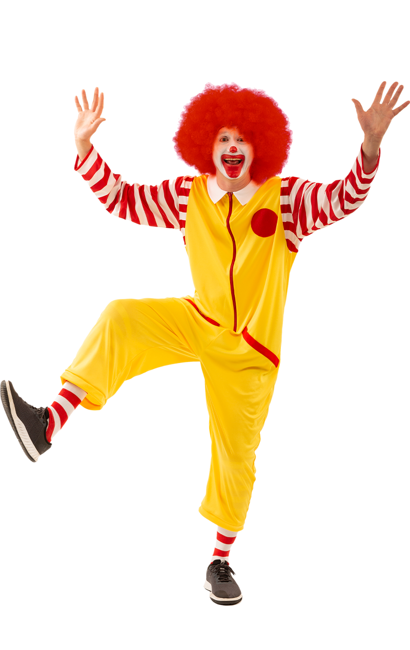 Mens Ronald Clown Costume