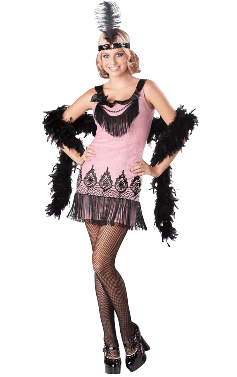 Pink Flirty Flapper Costume