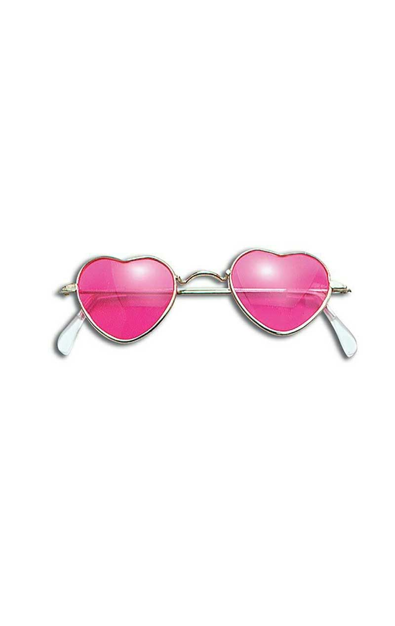 70s Pink Heart Sunglasses