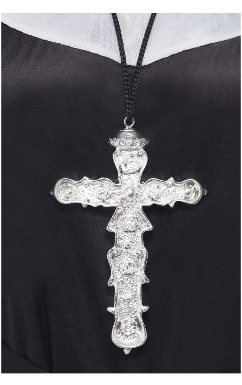 Silver Ornate Cross Necklace