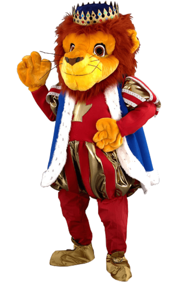 Luxury King Lion Mascot Costume