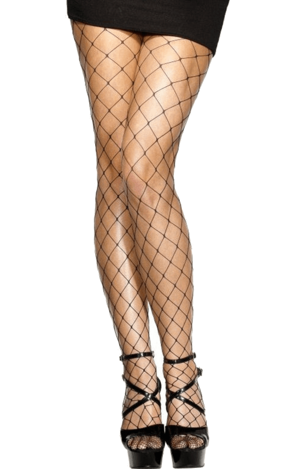 Black Whale Fishnet Tights