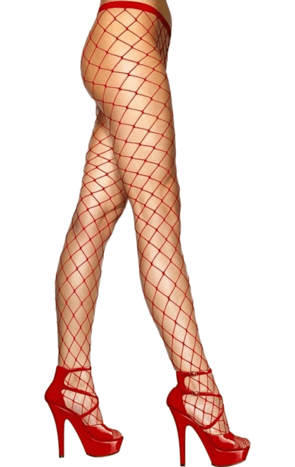 Red Whale Fishnet Tights
