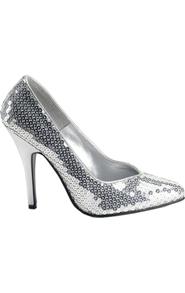 Adult Silver Sequined Shoes