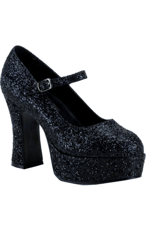 Adult Black Glitter Shoes