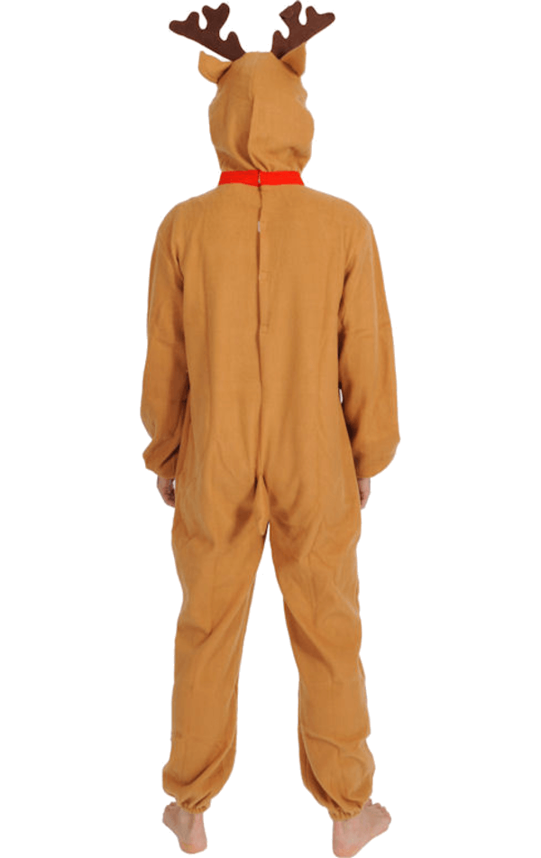 Adult Red Nose Christmas Reindeer Costume