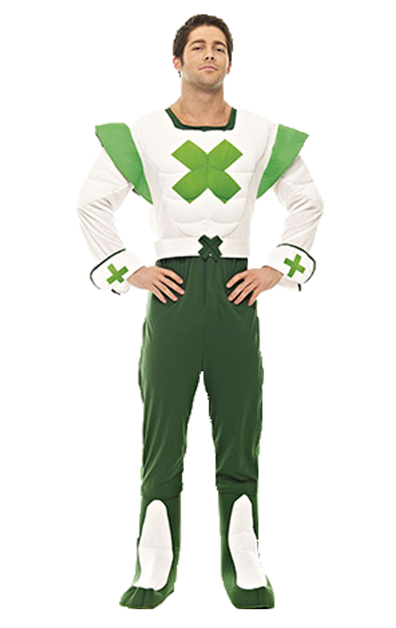 Adult Green Cross Code Man Costume