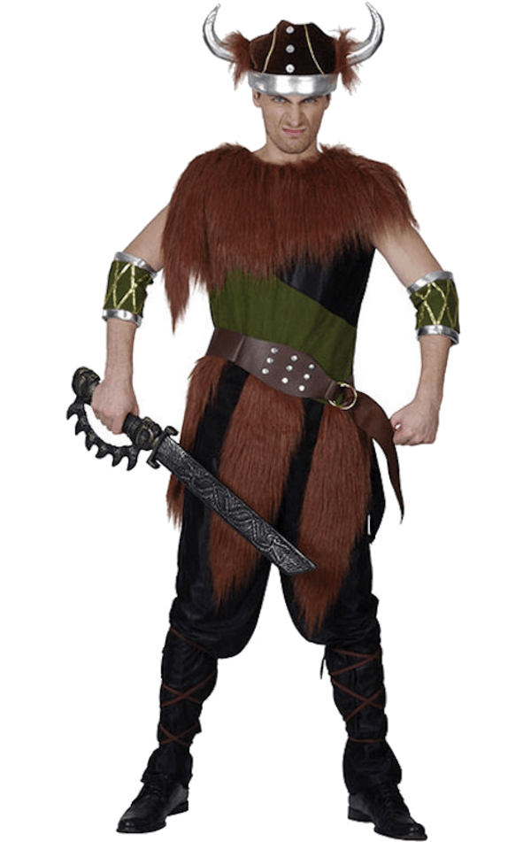 Adult Fur Viking Man Costume