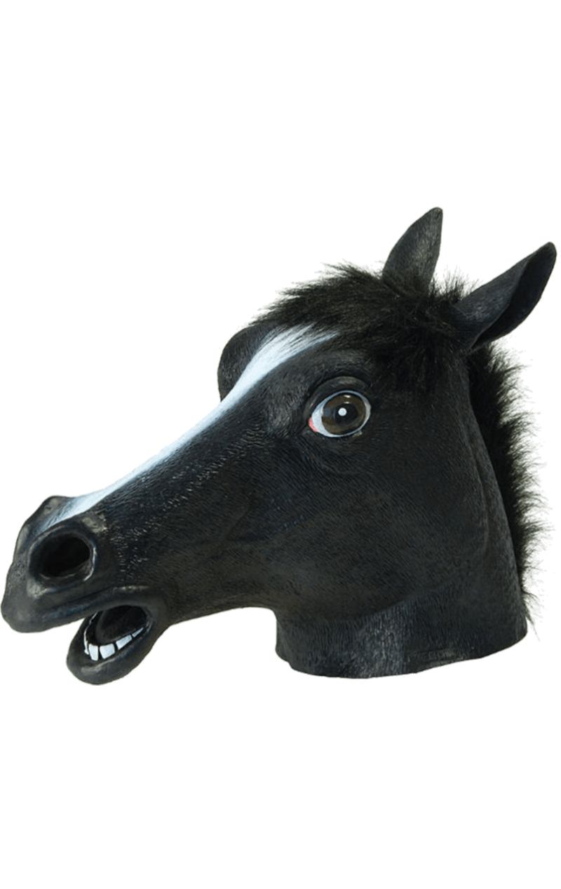 Adult Black Beauty Horse Facepiece