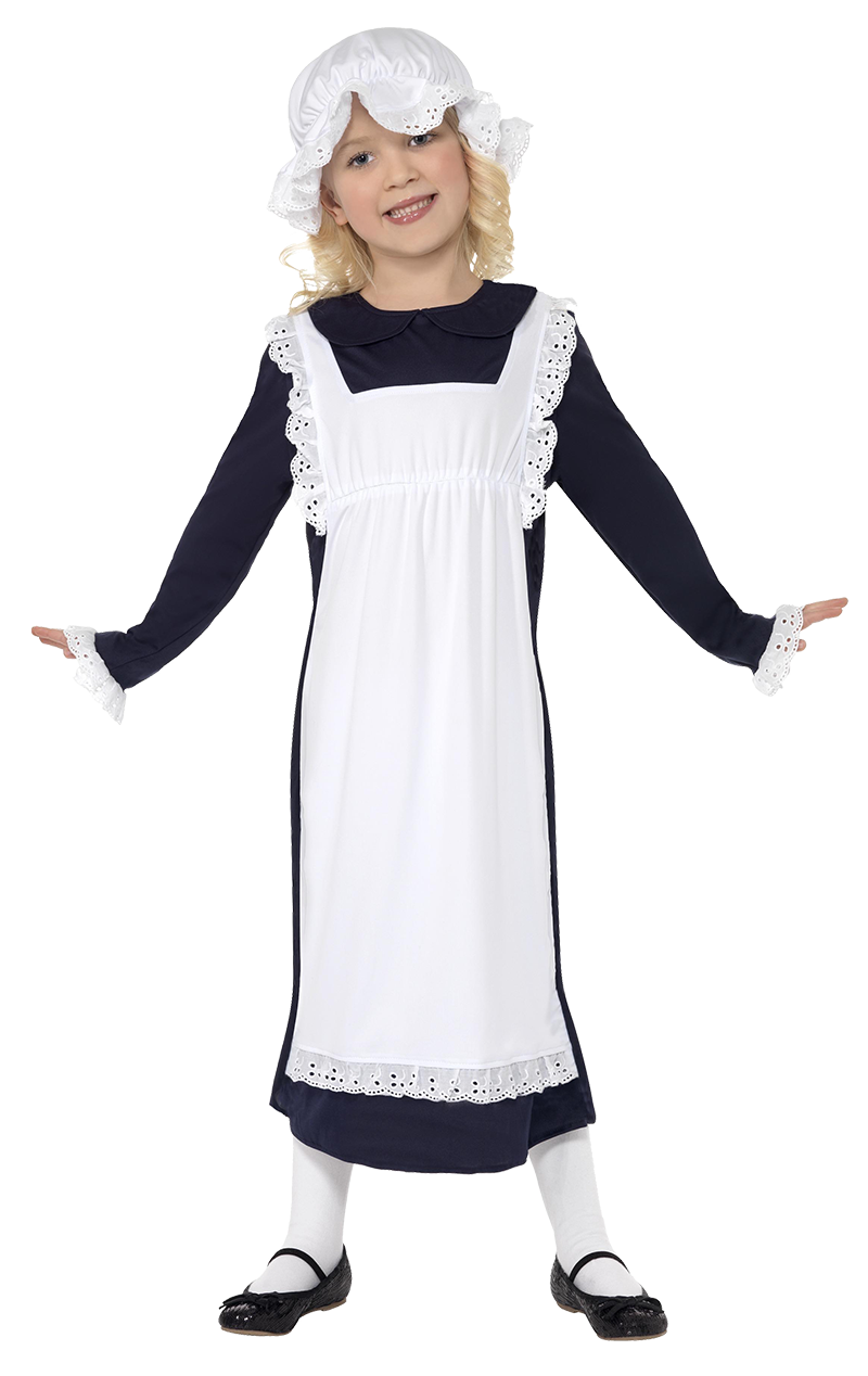 Girls Victorian Poor Maid Costume