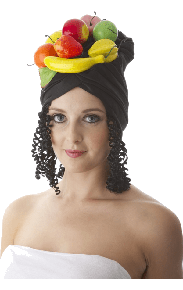 Adult Fruit Hat with Hair