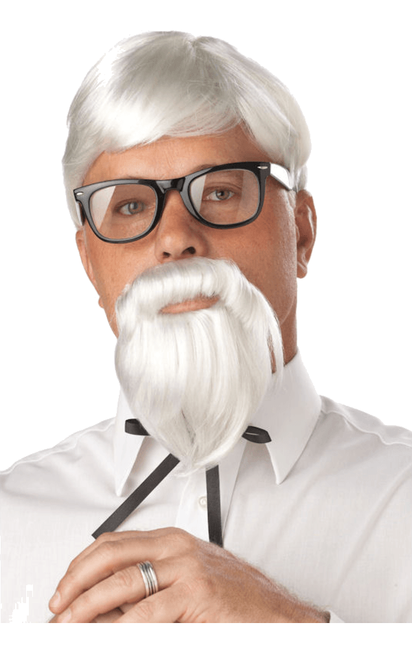 Adult The Colonel Wig and Moustache