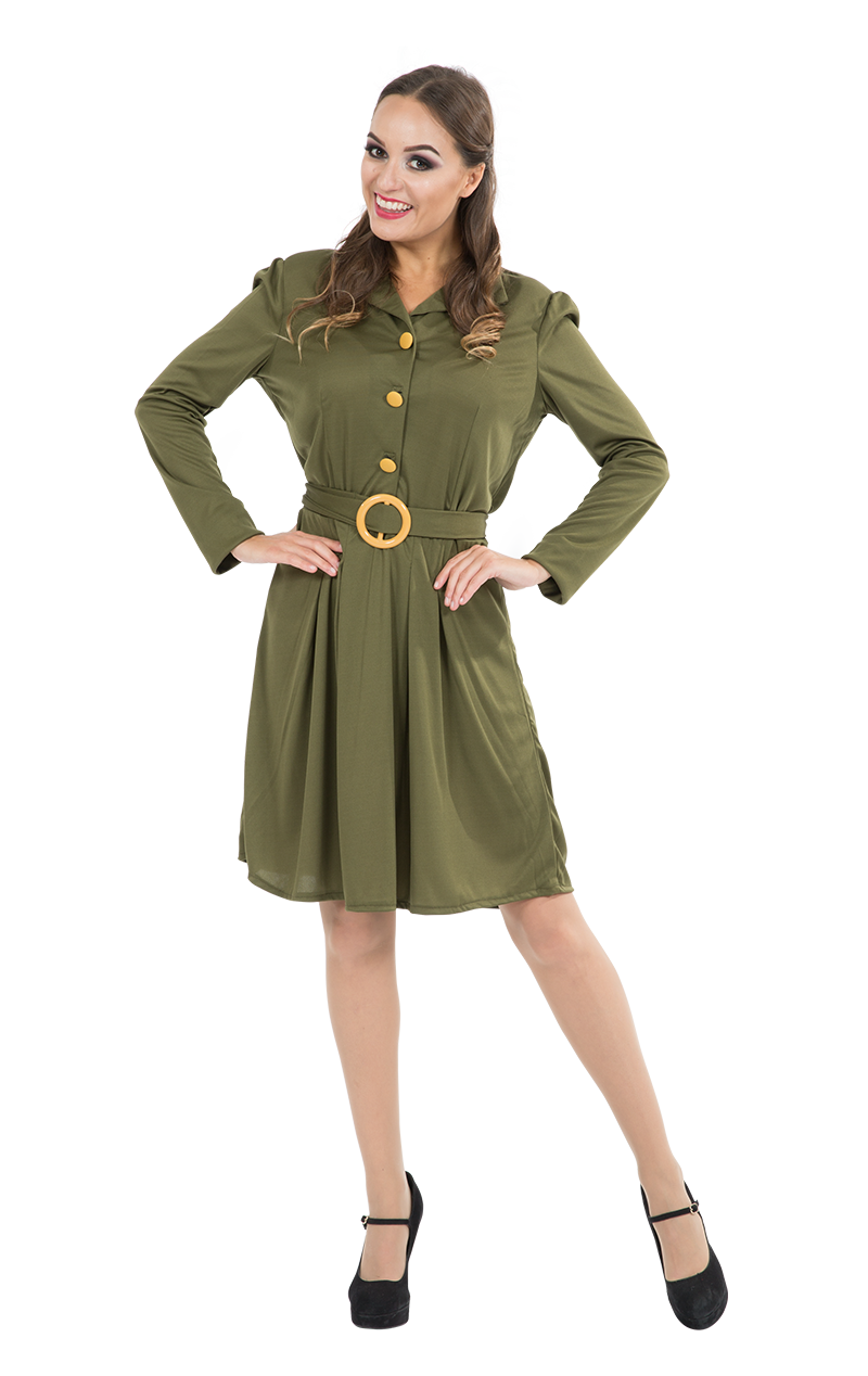 Adult WW2 1940s Military Dress