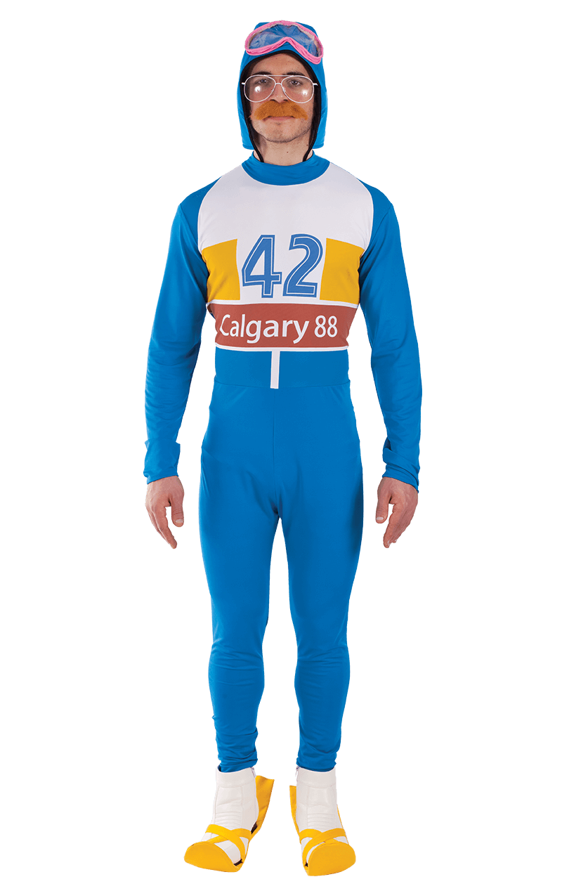 Mens 1980s Eddie the Eagle Costume