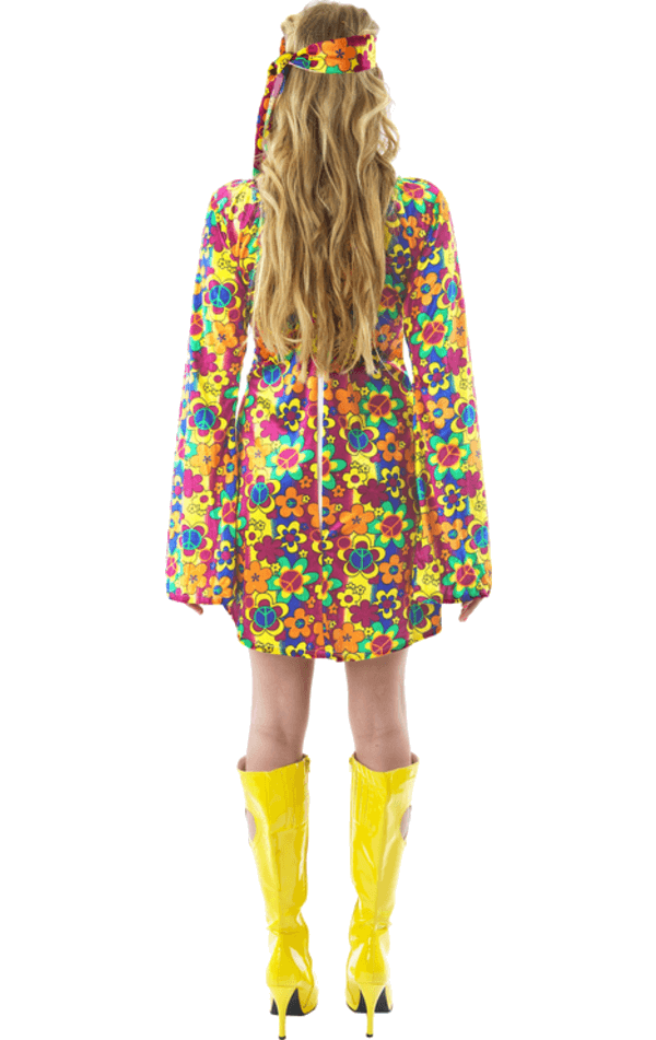 Adult 1960s Flower Power Hippy Costume