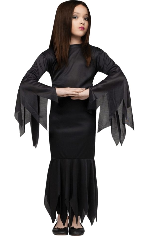 Girls Morticia Addams Costume