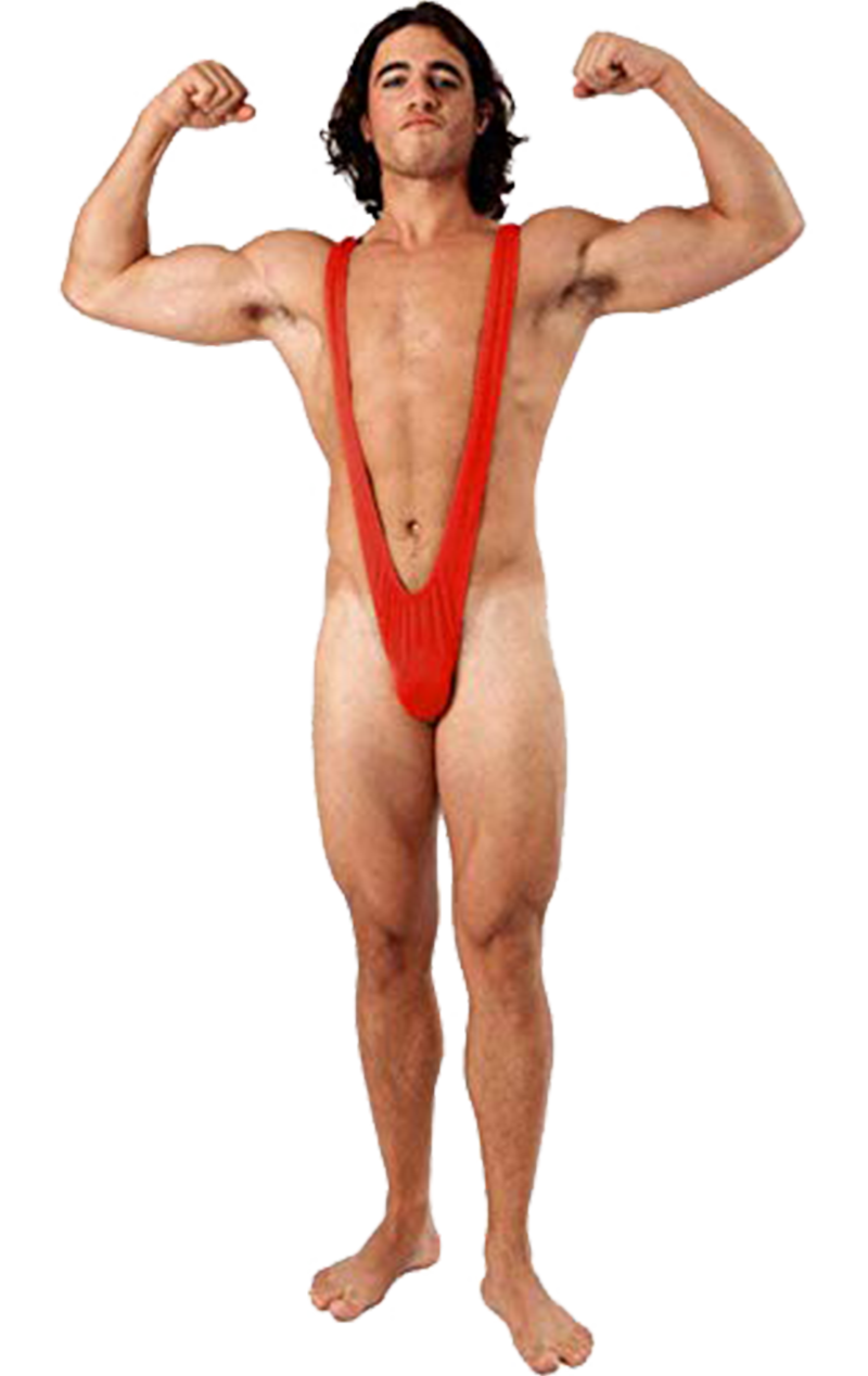 Borat Mankini Thong Swimsuit (Bright Red)