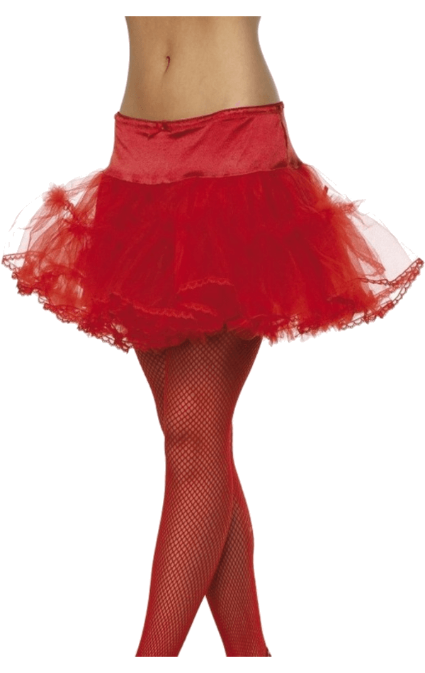 Womens Tulle Red Petticoat