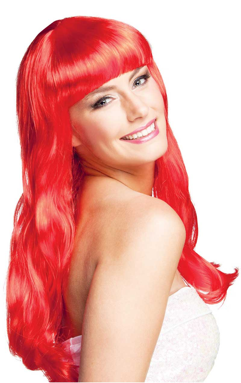 Womens Red Desire Wig