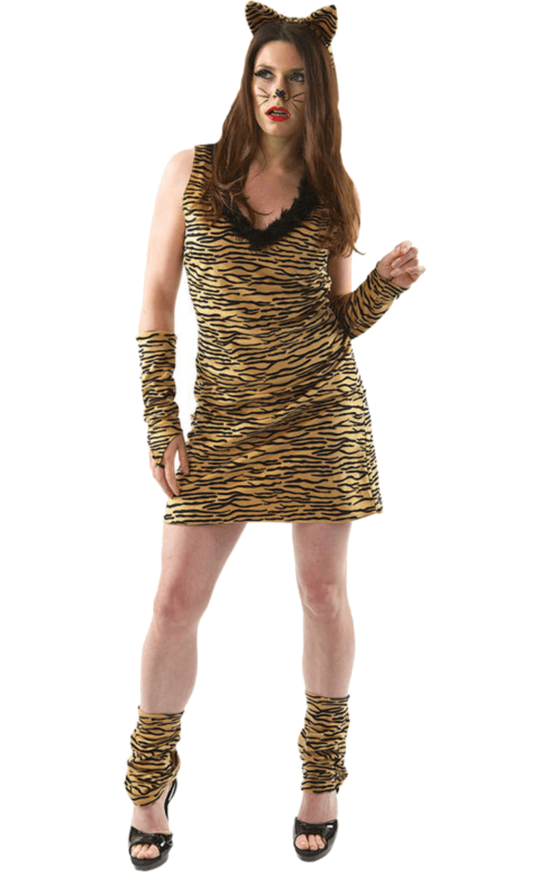 Adult Female Tiger Animal Costume