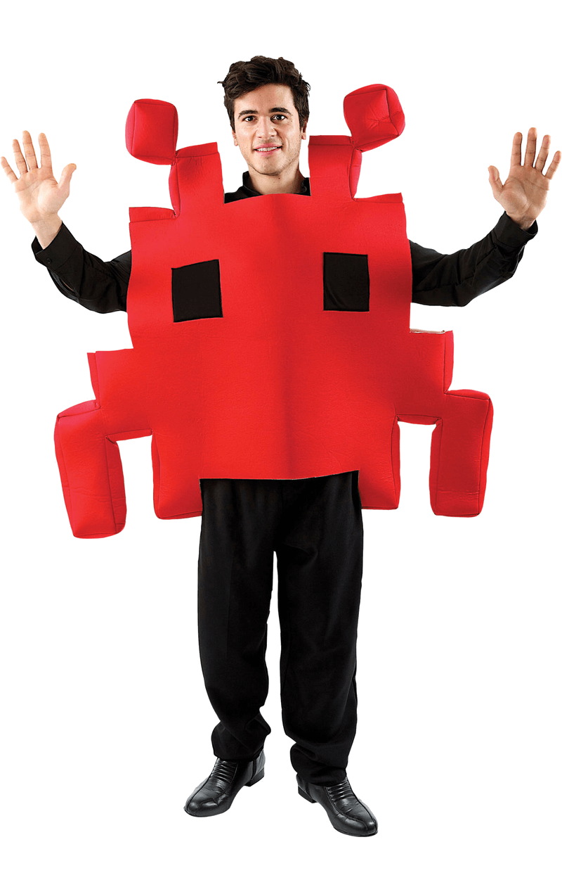 Adult Red Space Invader Costume