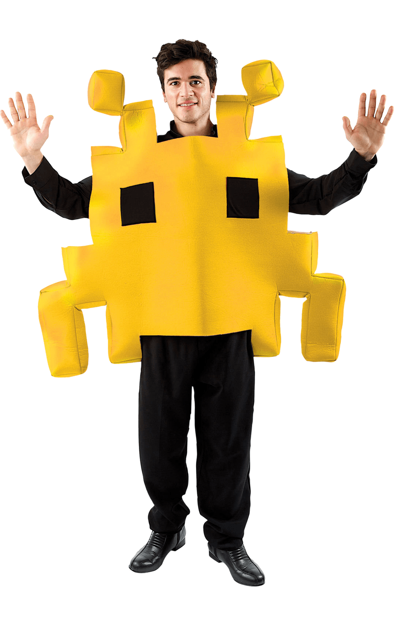 Adult Yellow Space Invader Costume