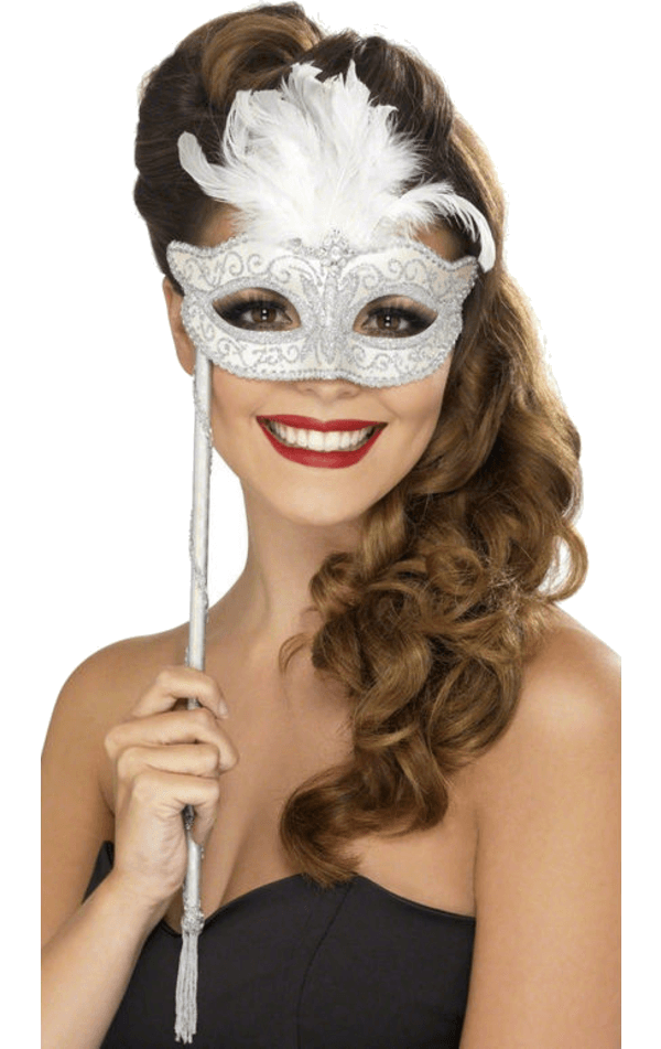 Masquerade Facepiece on Stick
