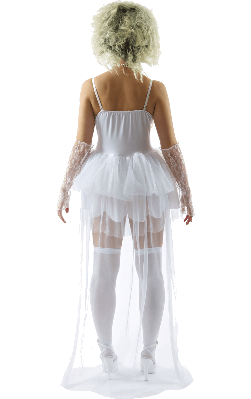 Womens 80s Virgin Bride Madonna Costume