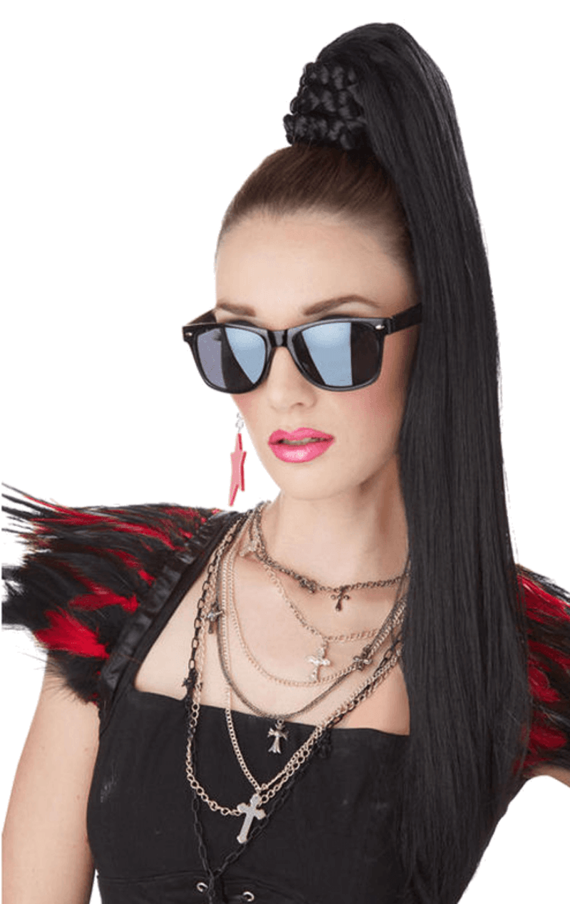 Katy Perry Ponytail Wig - Black