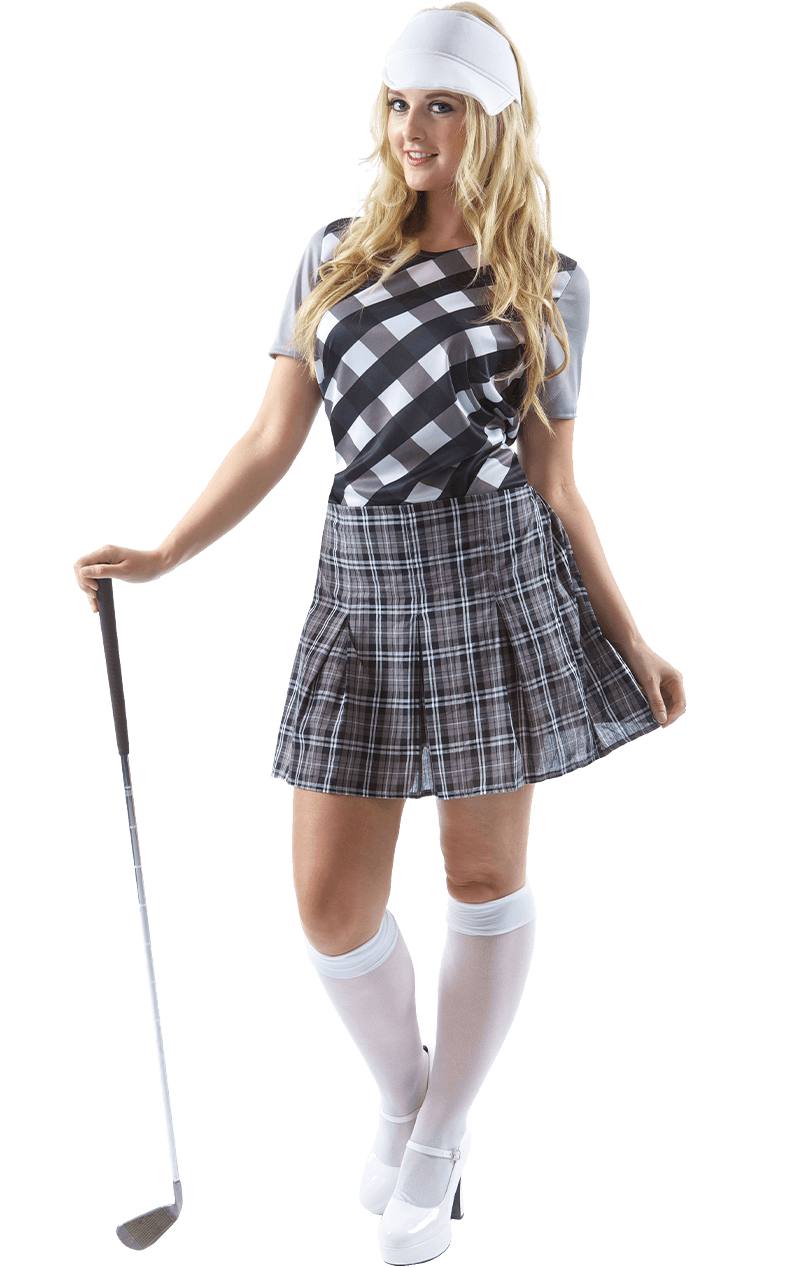 Womens Black Golfer Costume