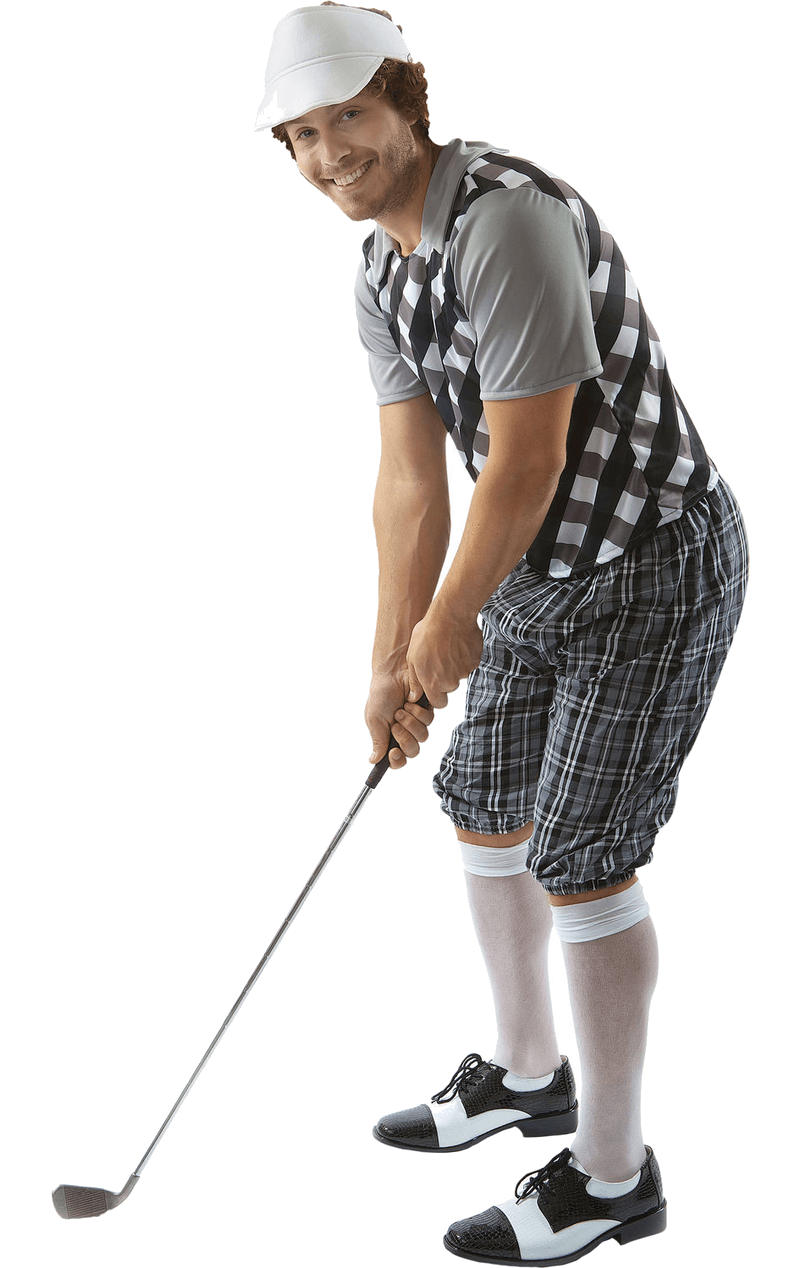 Mens Black Pub Golf Costume