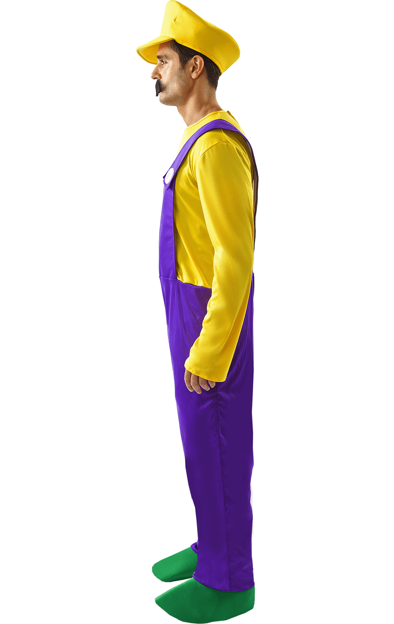 Mens Wario Super Mario Costume