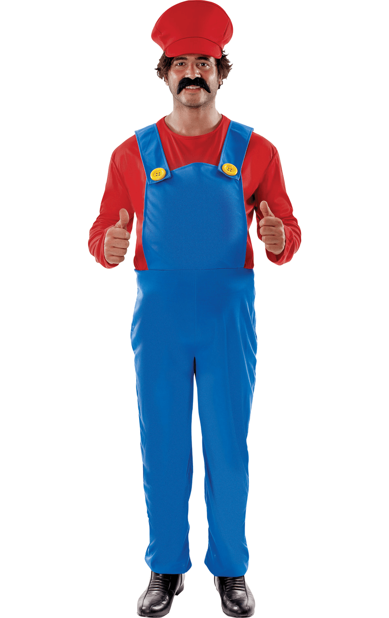 Mens Super Mario Costume (Plus Size)