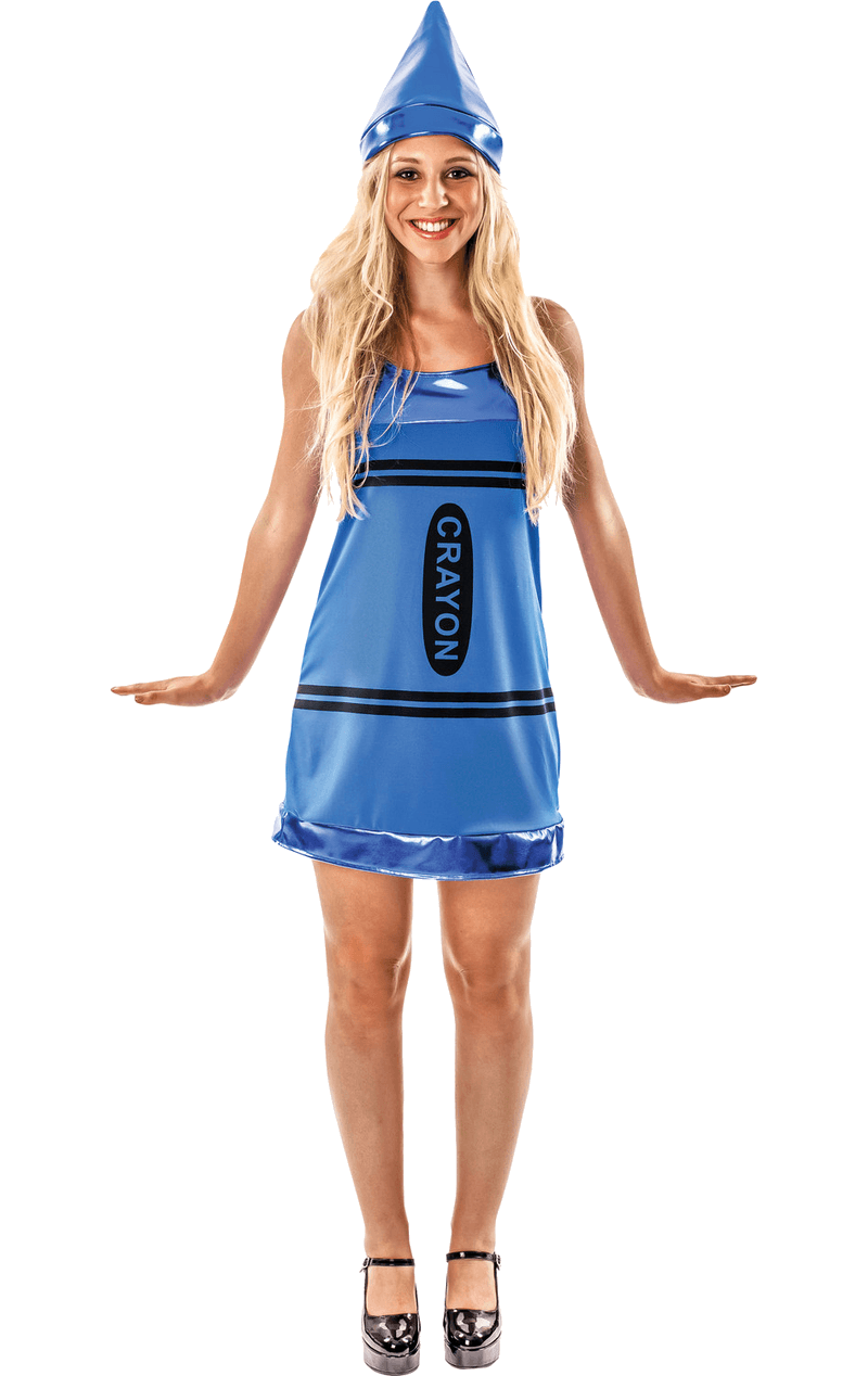 Womens Blue Crayon Costume