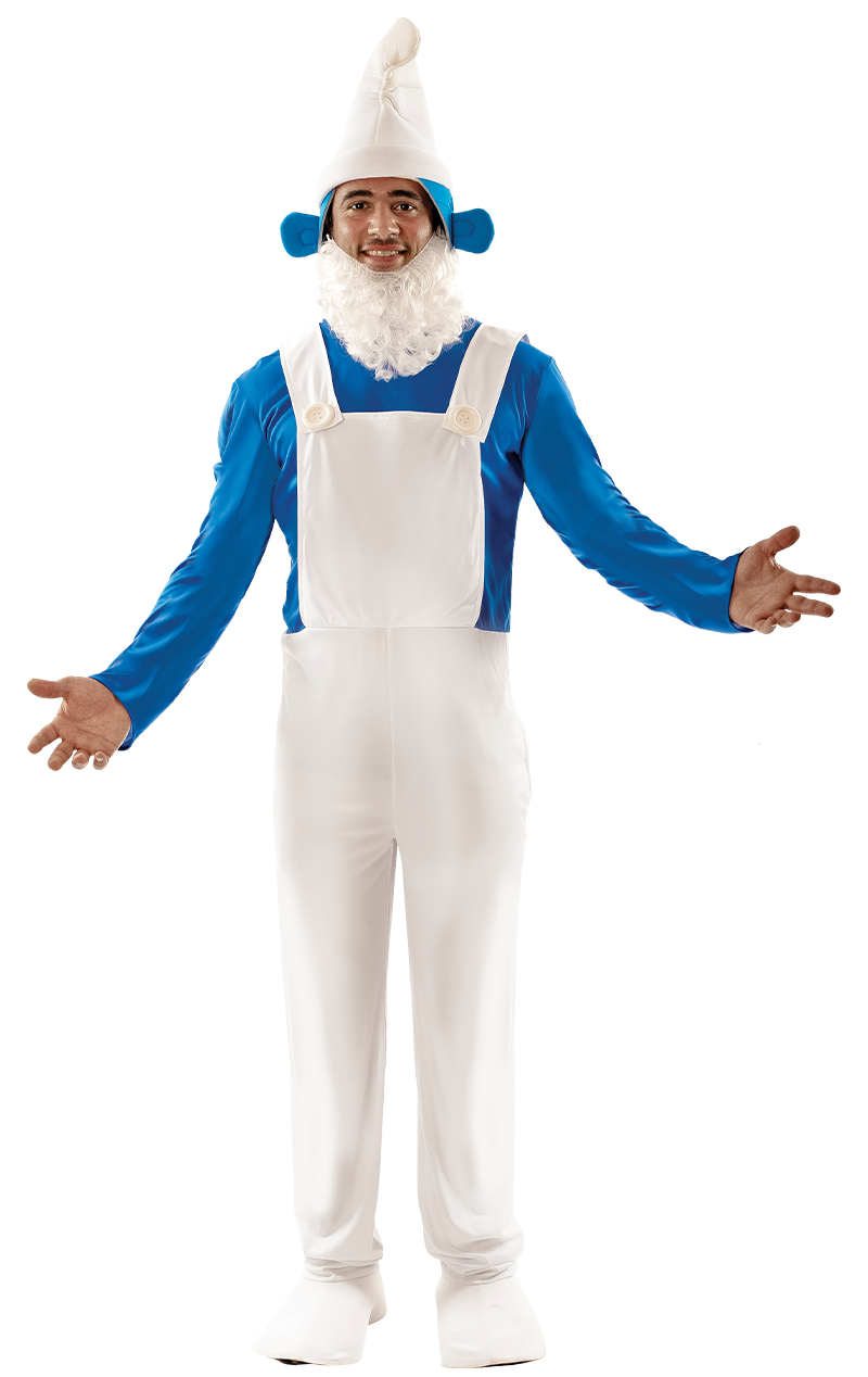 Mens Blue Gnome Costume