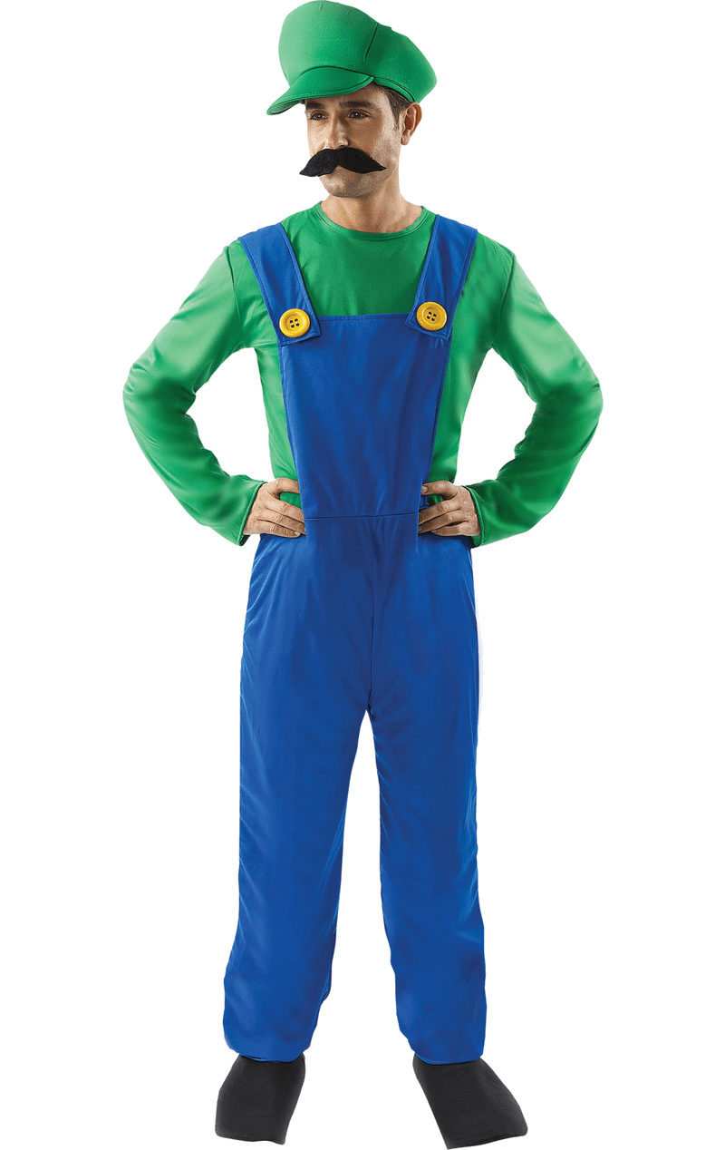 Mens Luigi Super Mario Costume