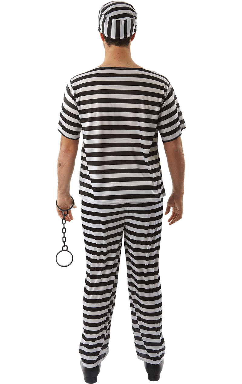 Adult Convict Prisoner Costume