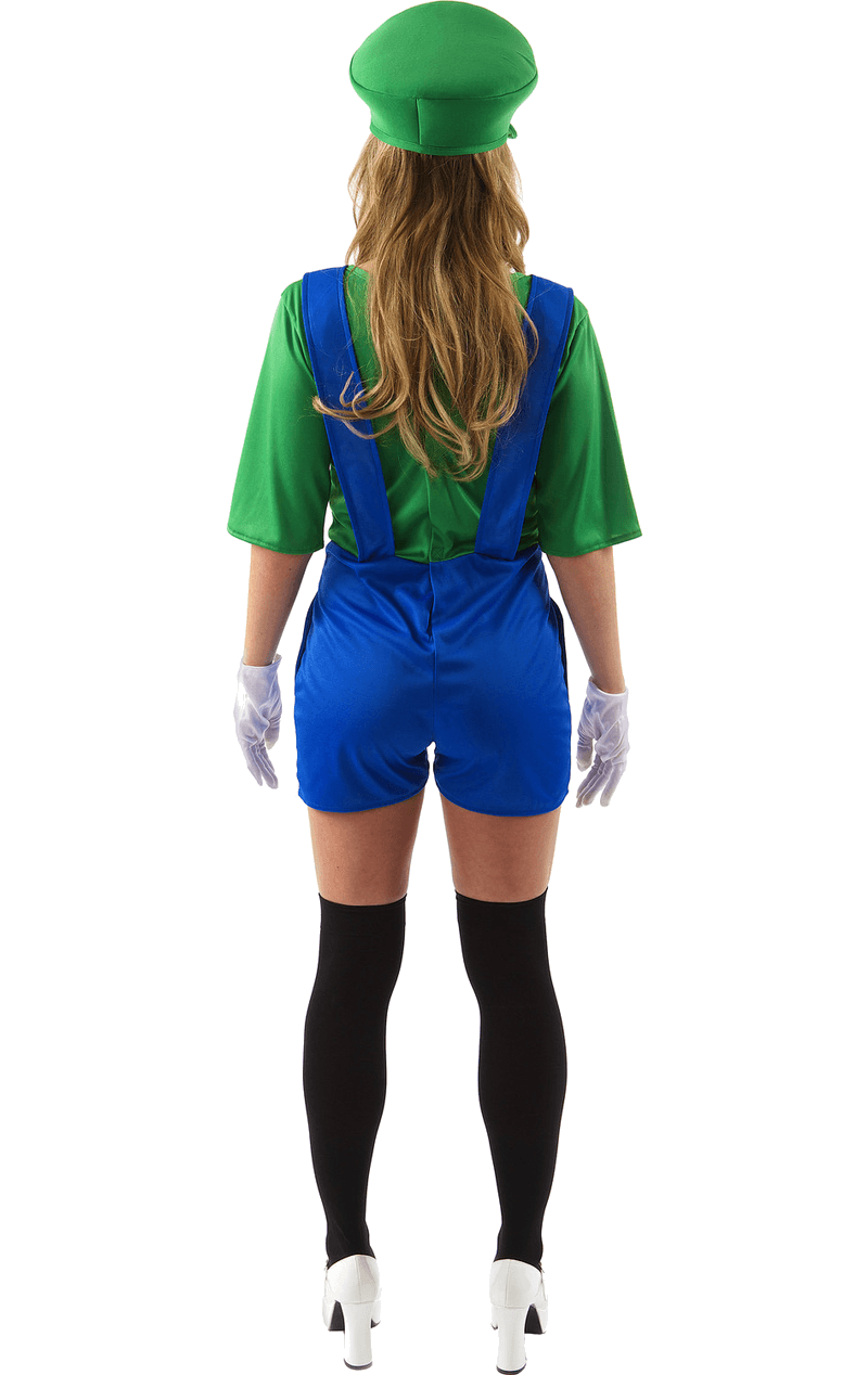 Adult Female Luigi Super Mario Costume