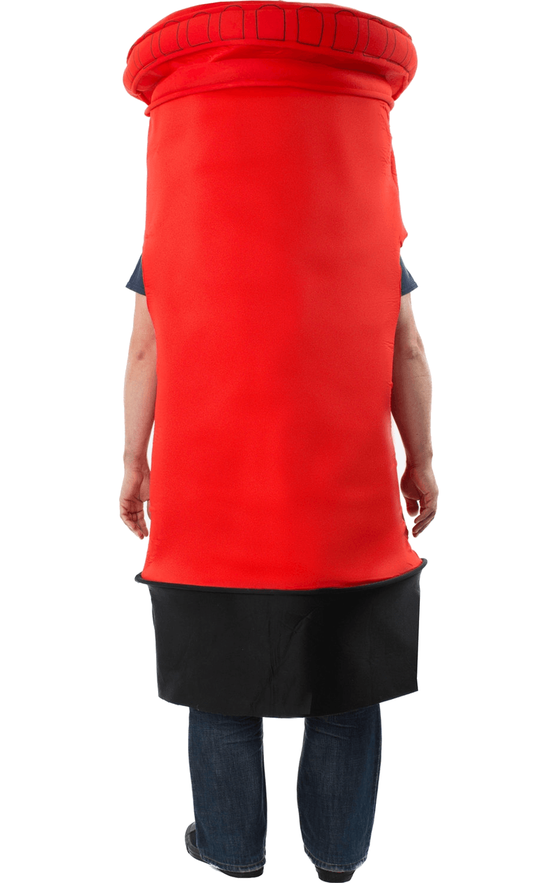 Adult Postbox Fancy Dress Costume