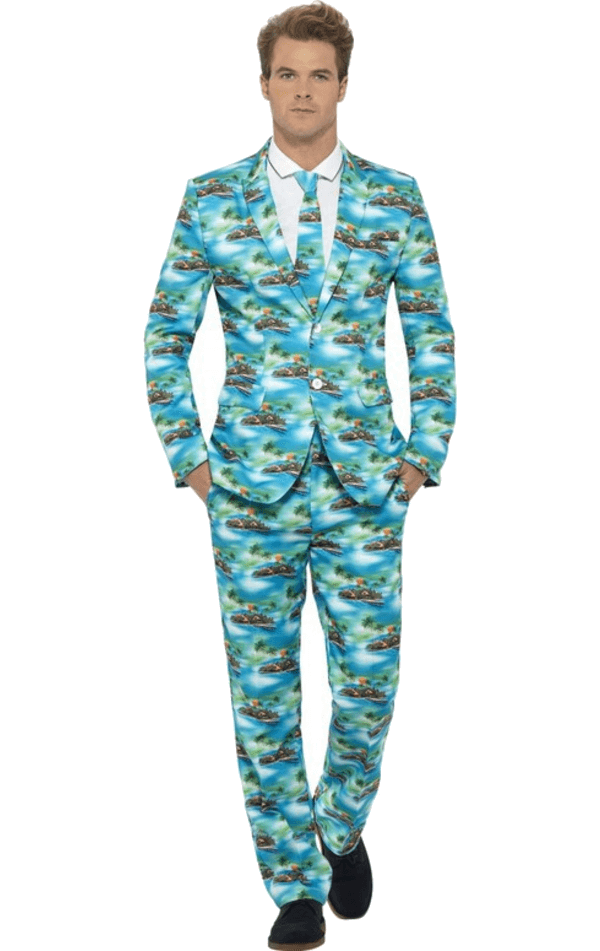 Aloha Patterned Stand Out Suit