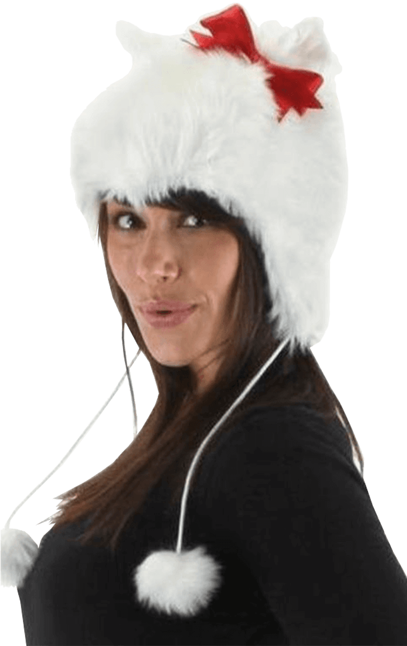 White Kitty Hat
