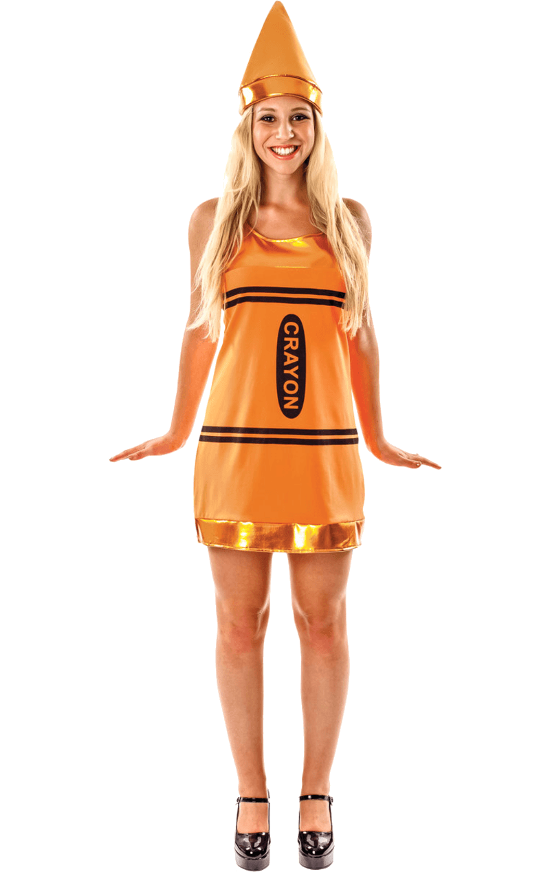 Womens Orange Crayon Costume
