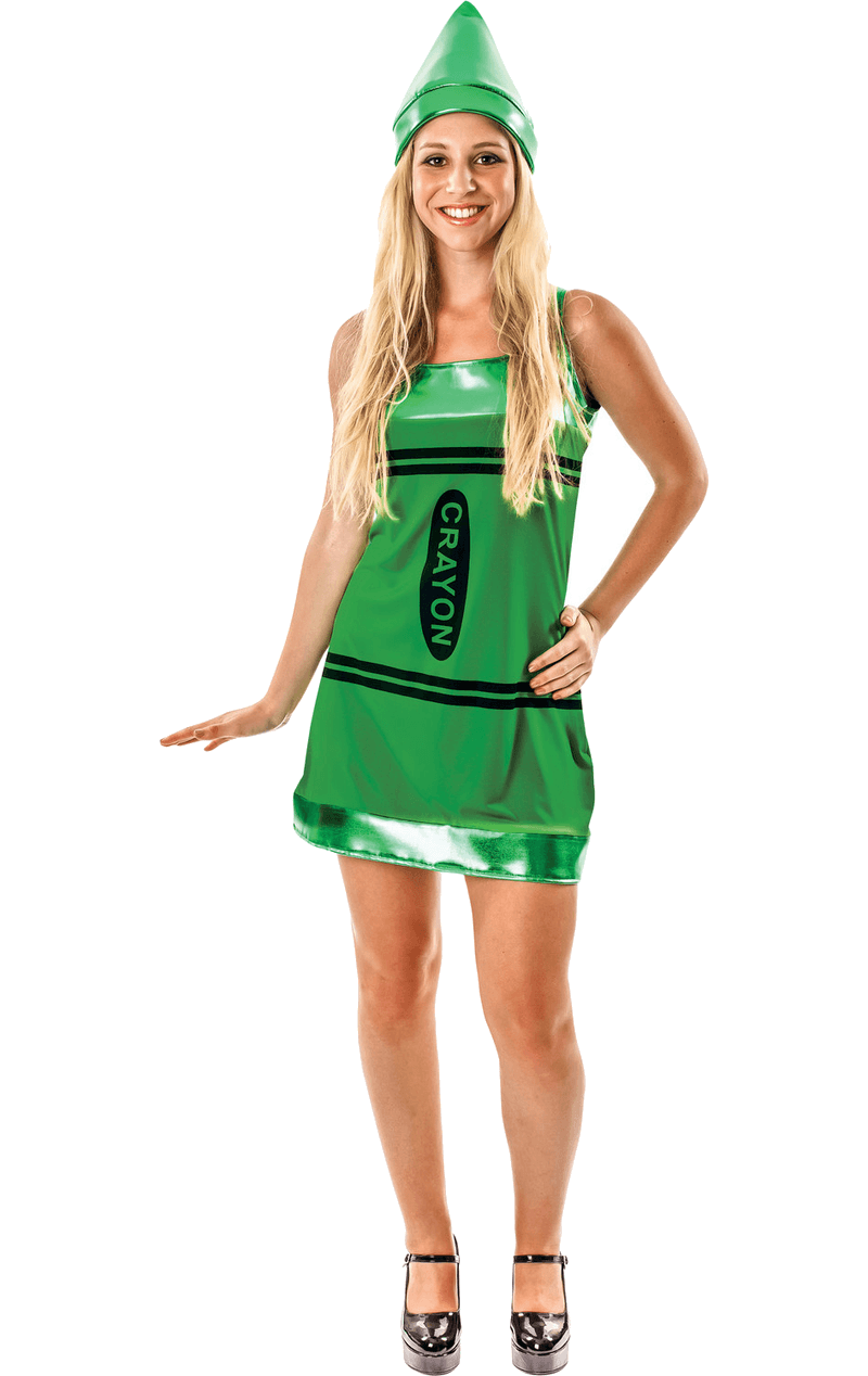 Womens Green Crayon Costume