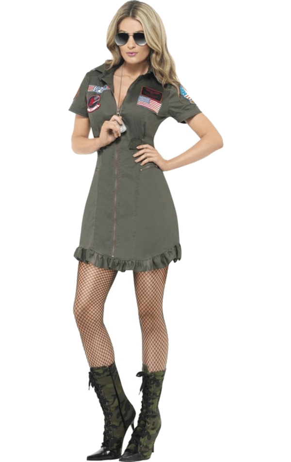 Ladies Top Gun Deluxe Costume